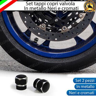 TAPPINI TAPPI GOMME TONDI AUTO MOTO COPRIVALVOLE Bullet Dust Tire BLU STOCK