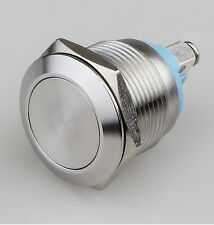 Push Button Momentary Switch, N.O. Metal Dome Push Switch, Shallow Depth 22mm X