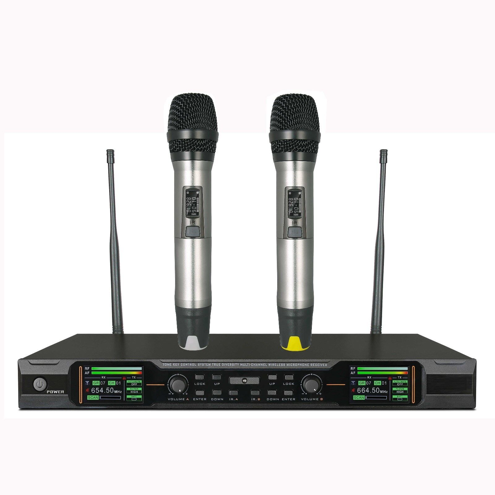 UHF Wireless Vocal Microphone System Auto Mute Handheld mic Microphone for Shure
