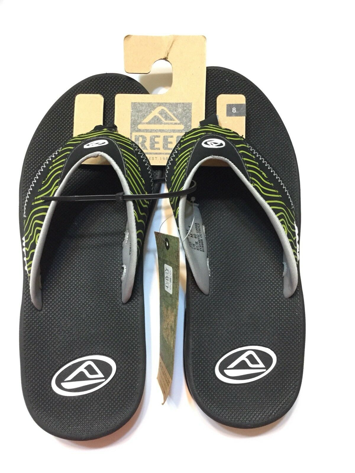 15051a660759 REEF MENS SANDALS FANNING Black Geen SIZE US US US 8 752707 - boxing ...