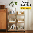 4 Layer Removable Kitchen Storage Rack portable Stand Storage Rolling Cart