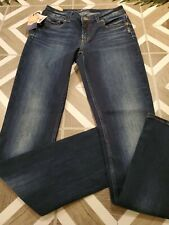 NEW Silver Jeans Women/'s Elyse Straight Leg Mid Rise 90509A