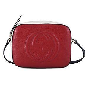 cbd1ffea28b8 NWT Authentic Gucci Soho Disco Red Leather Cross Body Bag Retail ...