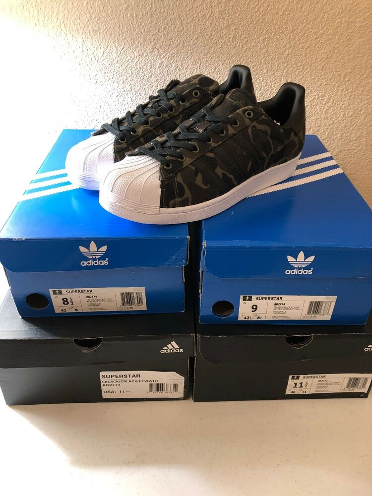 New Adidas Superstar Shell Camo homme's Taille 8, 9, 11.5 BB2774 100% Authentic