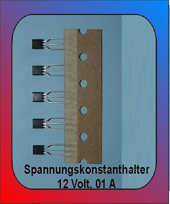 5 x Spannungsregler 12 Volt, 0,1 A