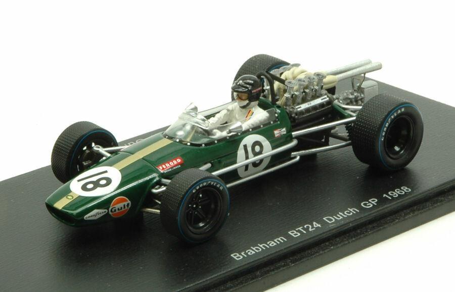 Brabham bt24 D. Gurney 1968  18 RETIrojo DUTCH GP 1 43 MODEL s4779 SPARK MODEL