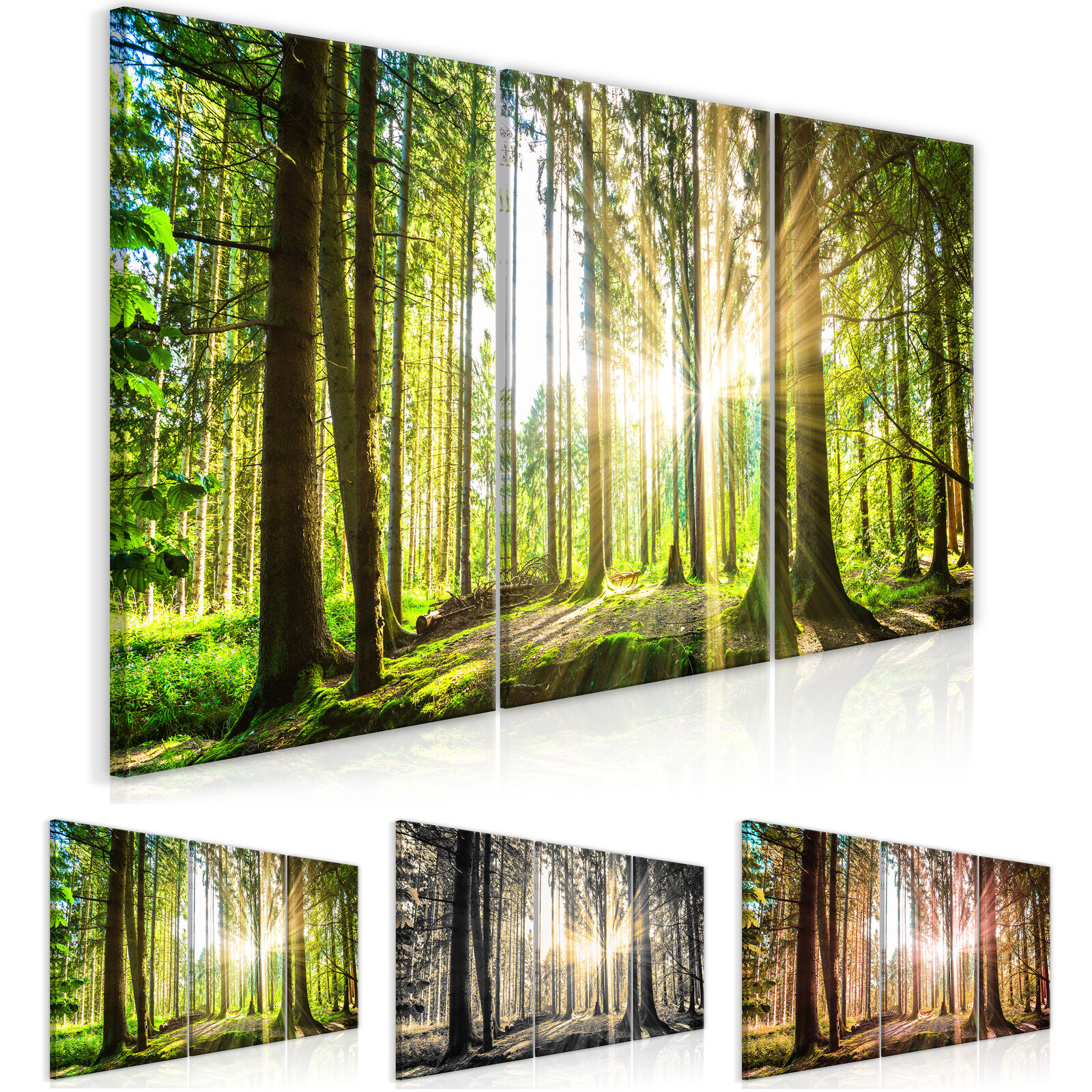 Wandbilder xxl Wald Landschaft Bilder Vlies Leinwand Leinwandbilder c-B-0077-b-f