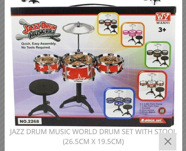 6 Sets Of Kids Drum Set. New.. Ideal For Marketers,, Carbooters , resale etc