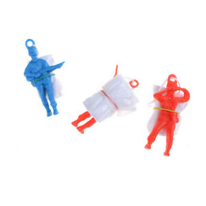3Pcs Mini Parachute With Figure Soldier Children's Educational Toy