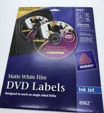 avery dvd labels matte white for ink jet printers 8962 ebay