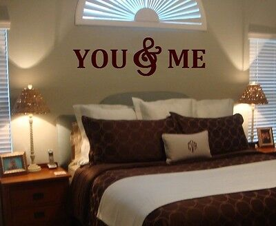 YOU & ME Wood Letters,Wall Décor-Painted Wood Letters