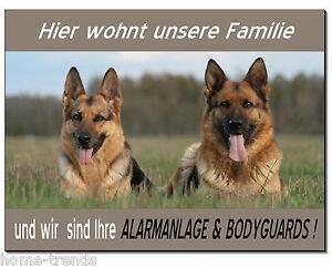 Schilder & Plaketten Zielstrebig Schäferhunde-hund-alu-schild-0,5-3 Mm Dick-türschild-warnschild-hundeschild-top Dekoration