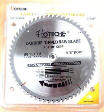 """Lot of (6) Carbide Tipped Saw Blade 10"""" x 60T"""