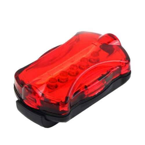 5 LED Lamp Bike Bicycle Front Head Light Rear Safety Waterproof Flashlight RDQ