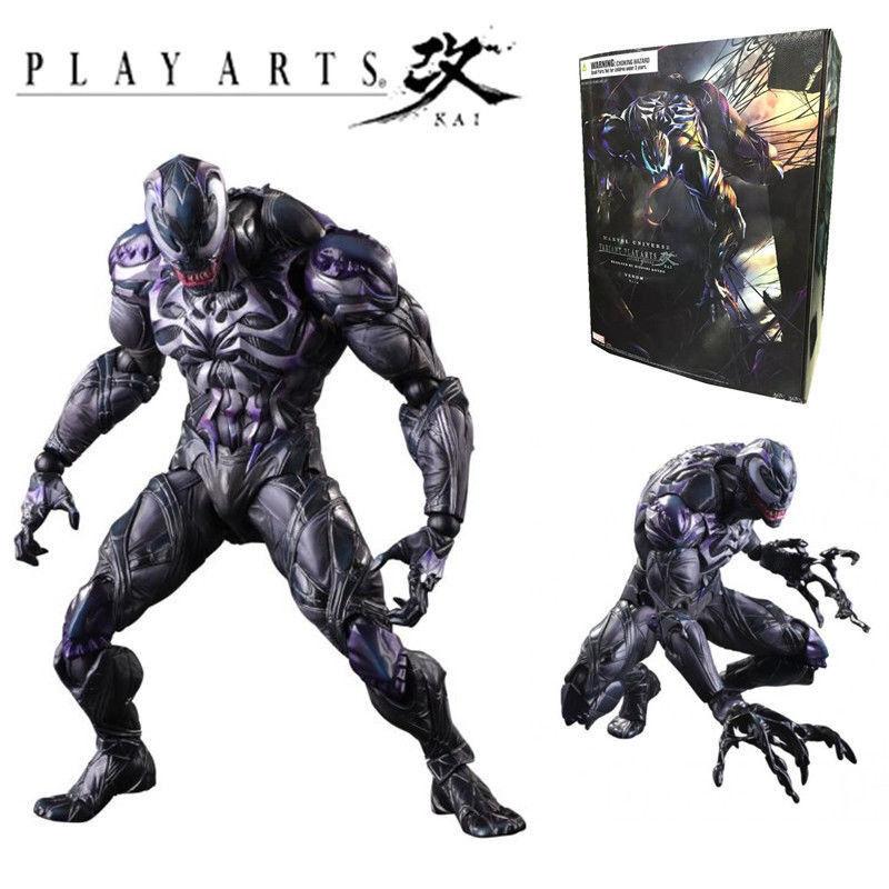 26CM PLAY ARTS KAI MARVEL UNIVERSE VARIANT VENOM Spider-man ACTION FIGURES TOY