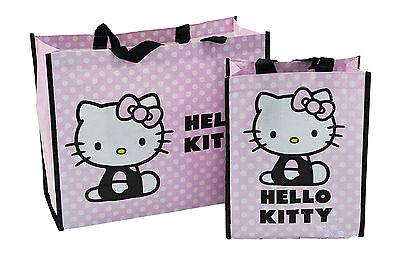 Sanrio Hello Kitty  Strand-Tasche Einkaufstasche Shopper  2 Stück im Set