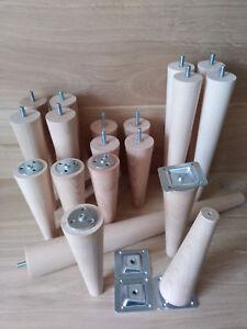 4-x-Wooden-furniture-legs-feet-replacement-sofa-footstool-beech-M8-plate