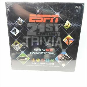 Nib Espn 21st Century Sports Trivia Game Shout It Draw It Act It Party Group Ebay