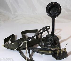 Microfono-militare-vintage-T-26-originale-USA-anni-039-40