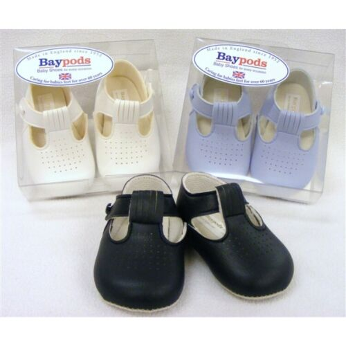 Bebé Niñas Niño clásicos tradicionales Tbar Zapatos Suela Suave 0//3 3//6 6//12 12//18