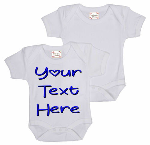 FUNNY CUTE IDEAL FOR CHRISTENING BABY SHOWER GIFT YOUR OWN TEXT ON A BABY VEST