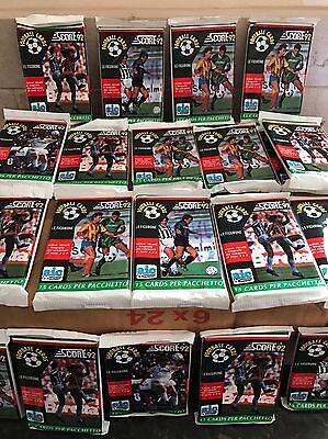 1992 Score Soccer Football Unopened Trading Card Pack Box Italian Sports Europe