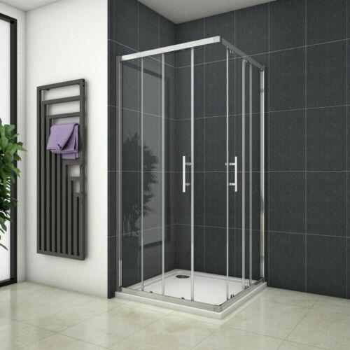 Schiebetür Duschkabine Eckeinstieg Duschabtrennung Duschwand Echtglas Duschtasse