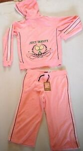 GIRLS-JUICY-COUTURE-TOWELLING-VARSITY-CROP-TRACKSUIT-AGE-14-RRP-175-NOW-40-50