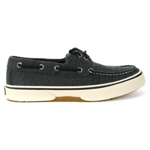 Sperry-Top-Sider-Men-039-s-Halyard-2-Eye-Charcoal-Slip-On-Boat-Shoes-STS22510-NEW