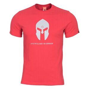 Pentagon T-shirt Maglia Uomo Militare Spartan Casco Red