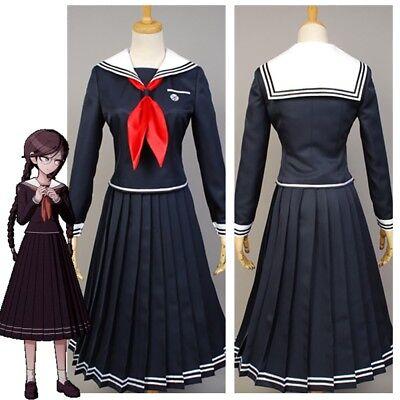 Danganronpa Toko Touko Fukawa Halloween Cosplay Costume Dress Outfit School Suit