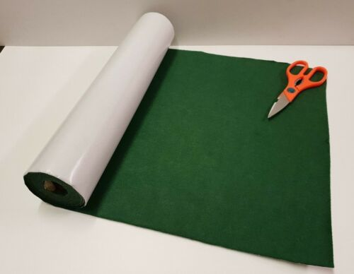 4 Metre/'s x 450mm wide roll of GREEN STICKY BACK SELF ADHESIVE FELT BAIZE