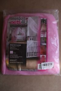 Baby-Toddler-Bed-Pink-Cot-Canopy-New-with-Tags-Drape-Mosquito-Net-600-X-230cm