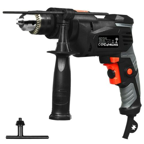 Hammer Drill Corded 1//2 Inch Electric Drill 3000 RPM Variable Speed Reversible