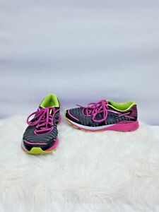Asics-Dynaflyte-T6F8Y-Women-Grey-Pink-Running-Casual-Shoes-Ladies-Size-9