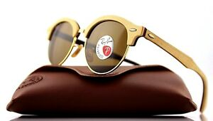 2ee9a6c52f Image is loading POLARIZED-Genuine-RAY-BAN-CLUB-ROUND-WOOD-Classic-