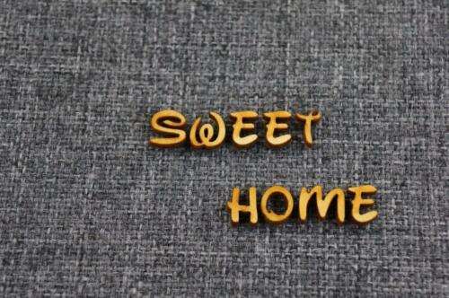 Plain Wooden 1cm Letters Digits Adhesive DISNEY FONT Numbers 260 47