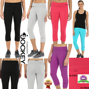 eb296cc0e675d Jockey Women's Slim Capri Flare Athletic Pant Cotton Yoga Capri S-XL ...