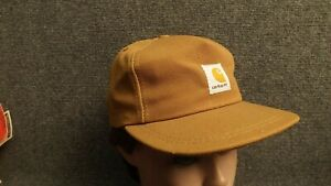 Vtg-NWOT-Kids-Carhartt-Duck-Cotton-Canvas-Snapback-Hat-USA-Made-Adult-6-1-2-Max