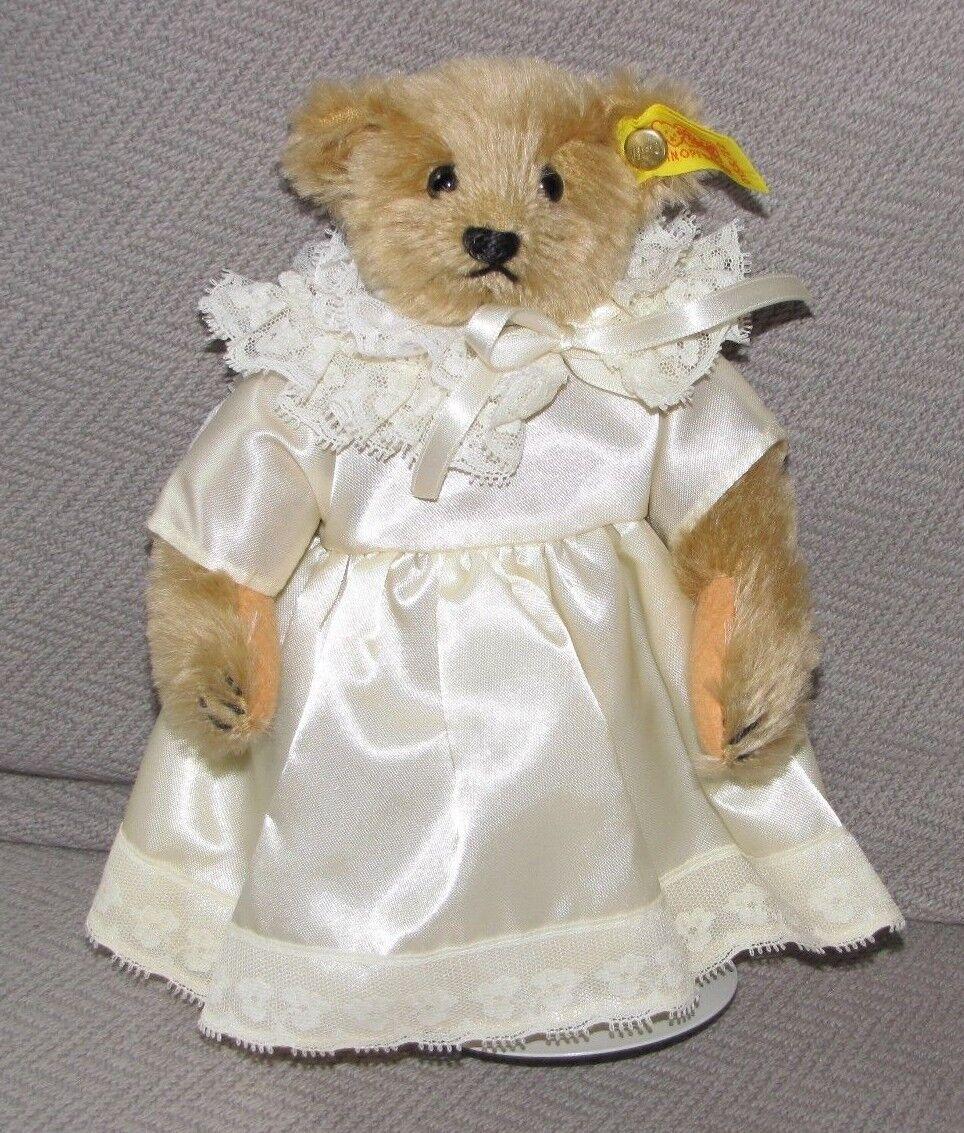 STEIFF 0155/22 STUFFED PLUSH TEDDY BEAR GIRL IN DRESS MARGARET WOODBURY STRONG