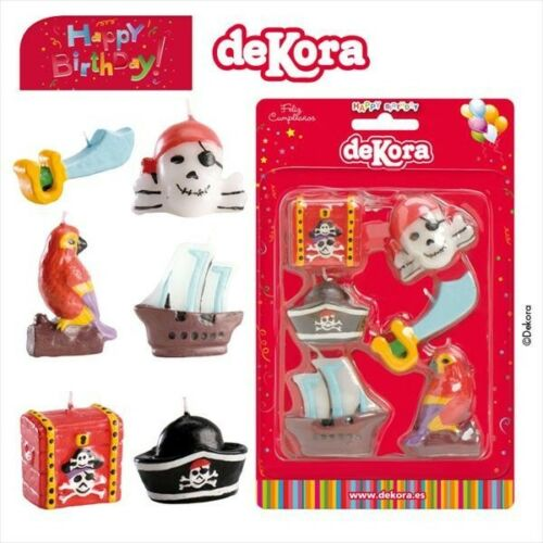PIRATES Pirate World Novelty Birthday Cake Candle Candles DeKora
