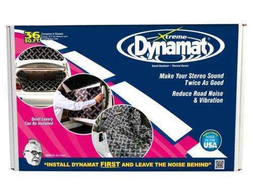 "Dynamat Xtreme sonido amortiguamiento Pack Nuevo Negro 18/"" X 32/"" 3 Hojas Solamente"