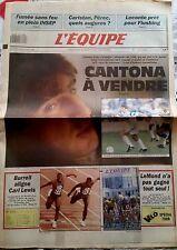 L'Equipe Journal 25/7/1990; Caristan, Pérec/ Leconte/ Cantona à Vendre/ Burrell