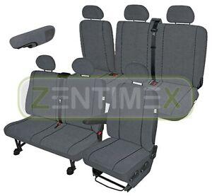 Sitzbezüge Schonbezüge SET EB Peugeot Boxer Stoff dunkel grau