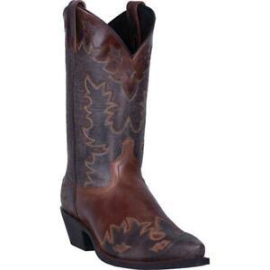 Laredo-Men-039-s-6760-Chocolate-Nash-Snip-Toe-Western-Boots