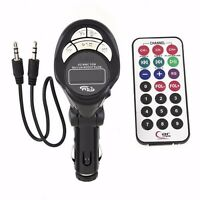 Car MP3 Player 4in1 Wireless FM Transmitter USB Pen Drive/SD/MMC Slot Remote New