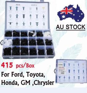 415Pcs-Auto-Car-Body-Plastic-Push-Pin-Rivet-Fasteners-Trim-Panel-Moulding-Clip