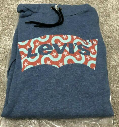 Original Levi/'s Men/'s Sweatshirt Overhead Batwing Hoodie Jumper Top S 2XL