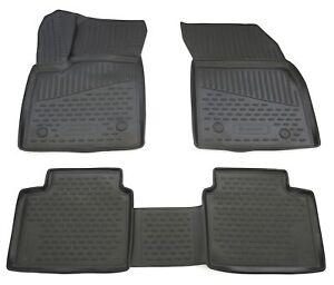 Gummimatten für Ford Focus MK4 2018- Gummi Fußmatten 4 teilig 3D Schalen Qualitä
