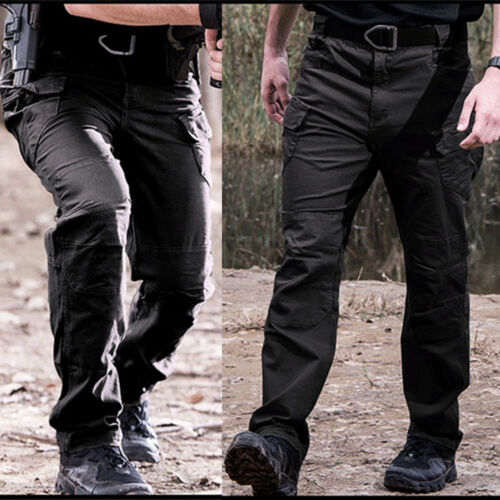 Men Outdoor Tactical Pants Army Military Casual Cargo Camo Combat Trousers S-3XL